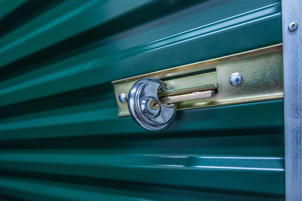 Secured storage units